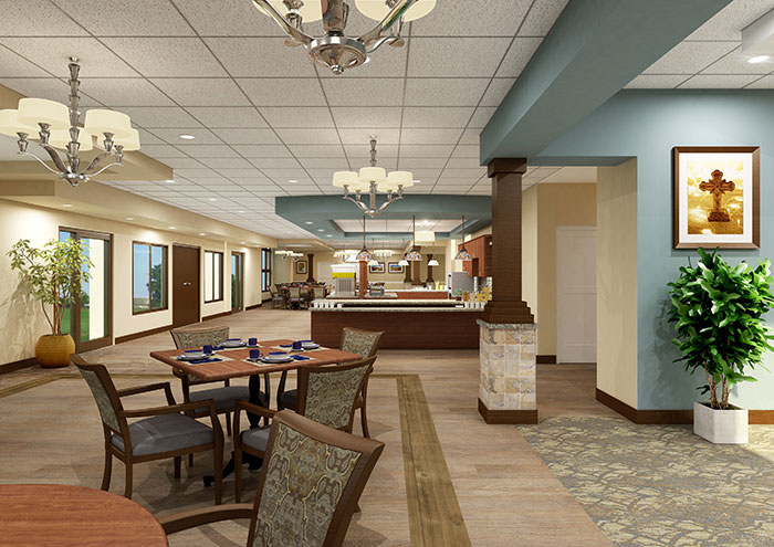 St. Monica's Senior Living - Dining Room
