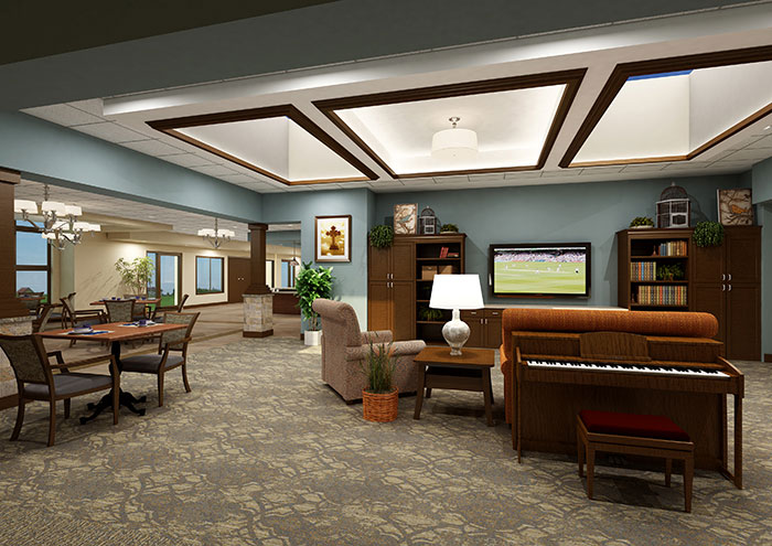 St. Monica's Senior Living - Living Room