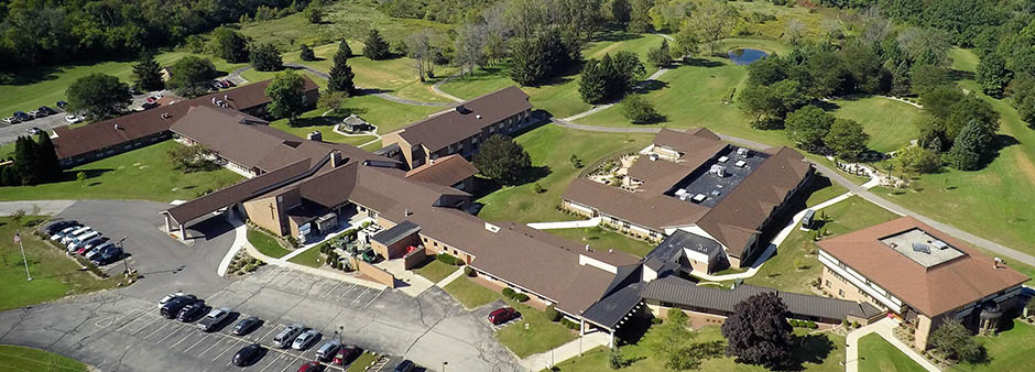 St. Monica's Senior Living Facility - Aerial View