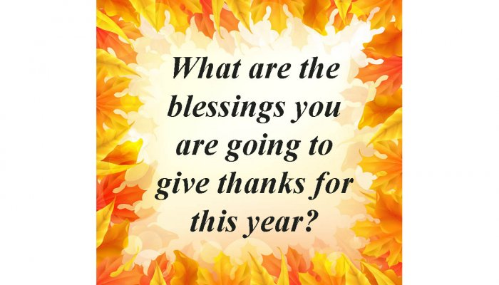 Blessings Give Thanks