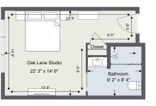 Oak Lane 2D Room